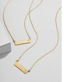 Initial Bar Pendant #gifts #ad