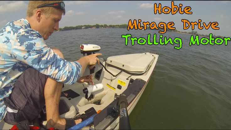 VIDEO TUTORIAL:  Homemade Hobie Mirage Drive Trolling Motor.  How to build a trolling motor for any Hobie mirage drive kayak such as the Pro Angler, Outback, Revolution, Sport, Oasis, Outfitter, or Adventure Island kayak.  Simply plug the trolling motor into the mirage drive and enjoy.  Speed is faster than you would typically be able to pedal.  www.YouTube.com/KayakDIY www.KayakDIY.com   www.Facebook.com/KayakDIY