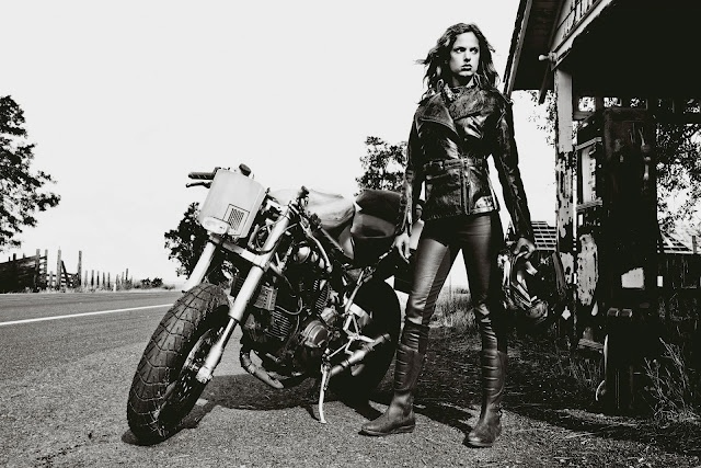 Mad Max motorcycle girl
