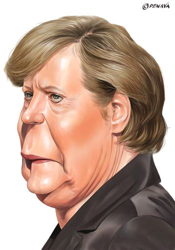Angela Merkel (medium)
