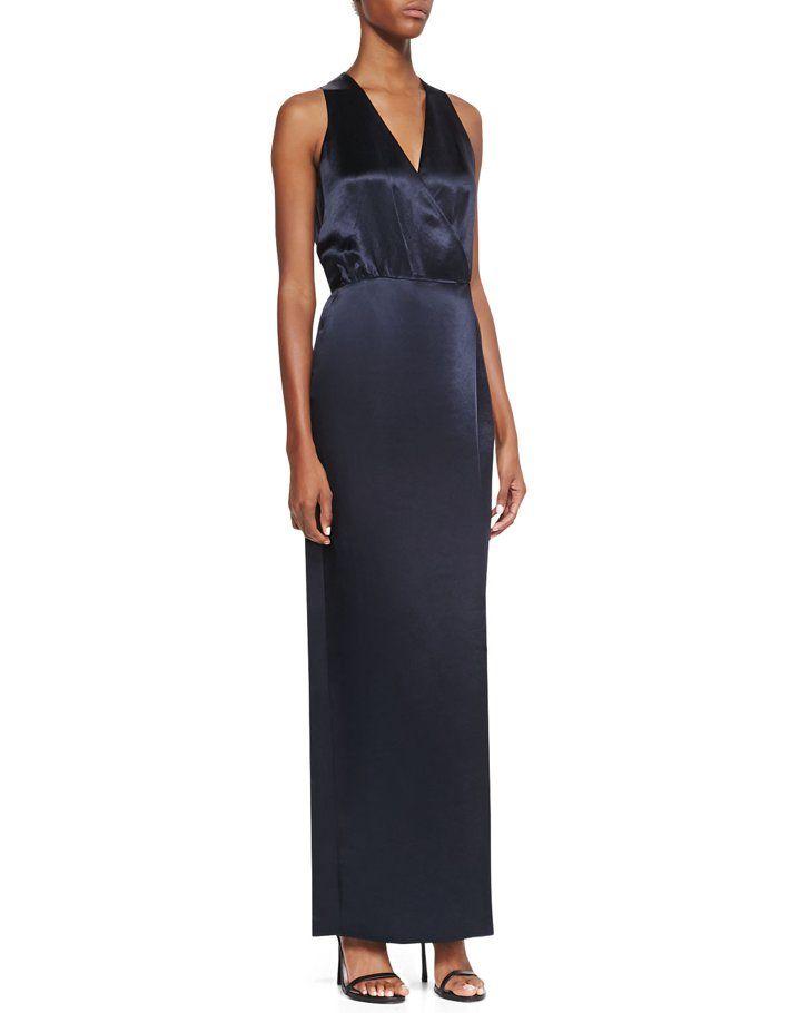 Pin for Later: 24 robes d'été pour les mamans de la mariée ! Robe effet portefeuille Tibi Tibi Sleeveless Faux-Wrap Dress ($495)