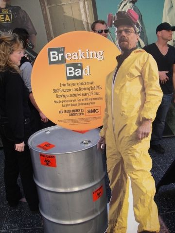 Life-size cutout for Breaking Bad.