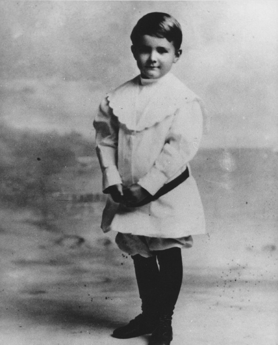 Howard Hughes as a child.