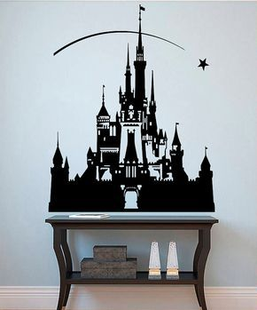 Princess Castle Wall Sticker Disney Decals Fairytale Wall Decor Girl's Room Stencils Art Interior Design (13dyce)