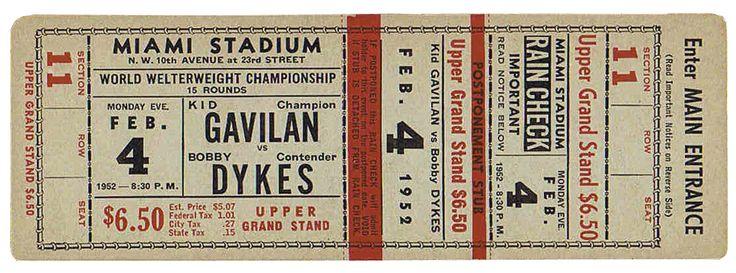 Vintage Ticket