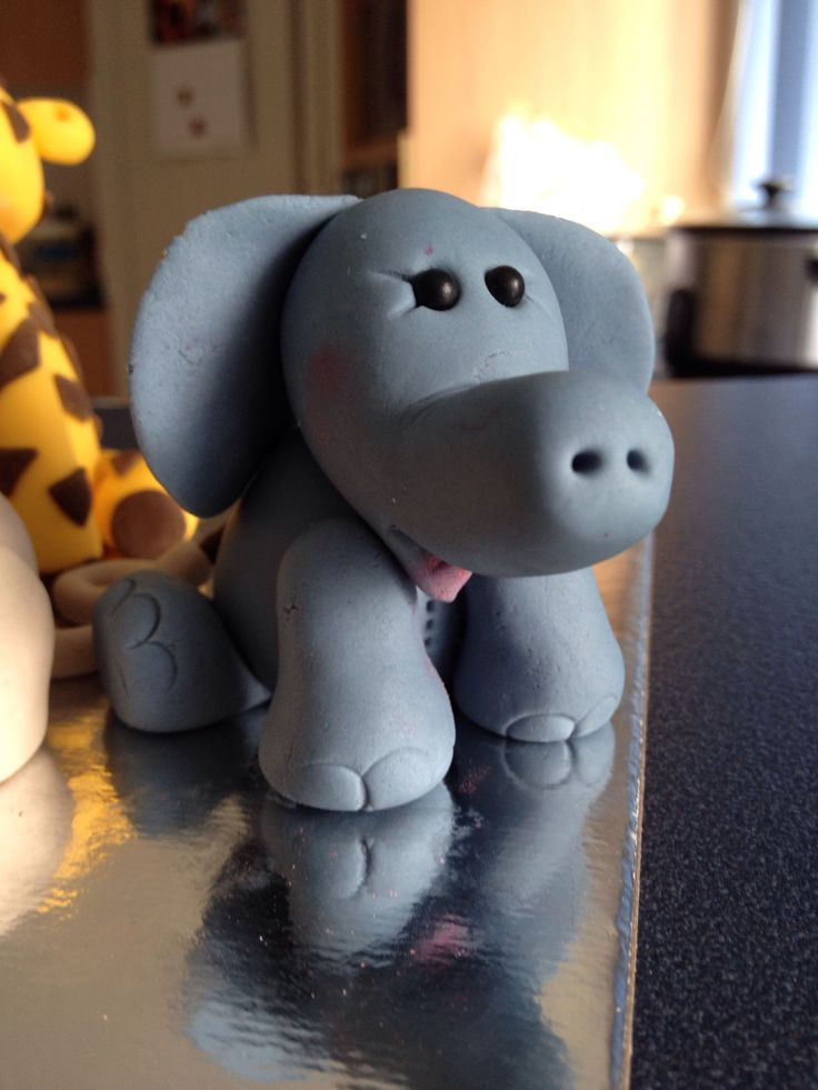 Elephant figure from the Jungle Animal course at Whip It Up on 20/2/14.