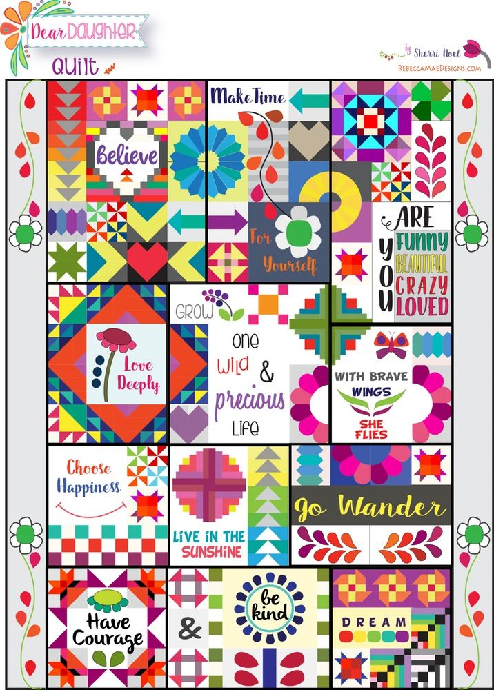 Image of Dear Daughter Block of the Month Quilt