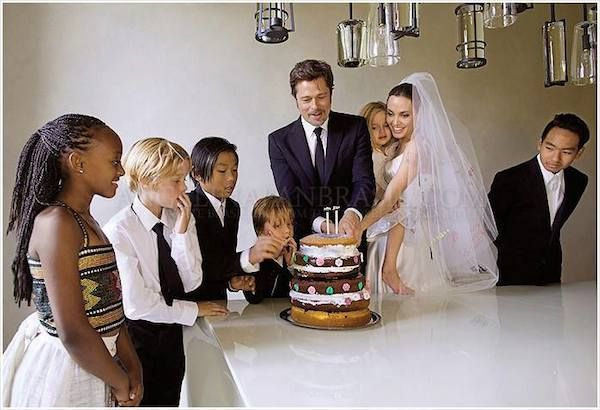 Celebrity Wedding: Brad Pitt and Angelina Jolie | http://brideandbreakfast.ph/2014/09/05/celebrity-wedding-brad-pitt-and-angelina-jolie/