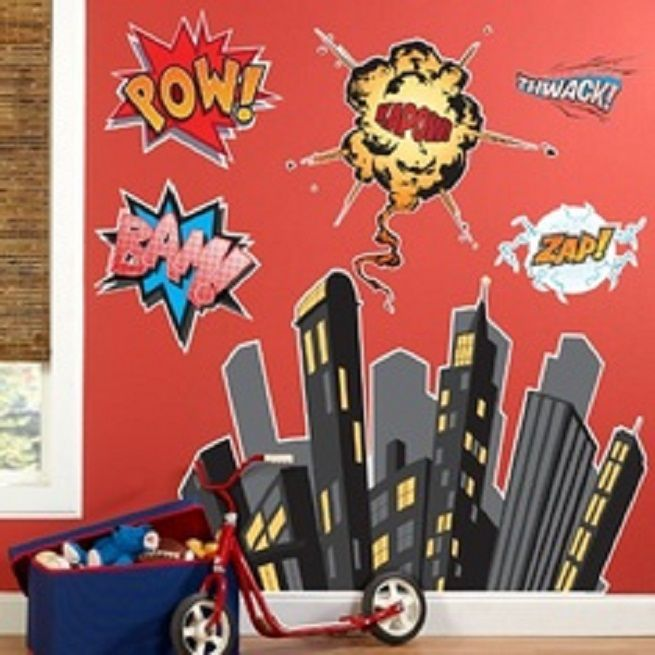 Superhero Wall Decals  The Most Frolic And Striking Wall Décor: Superhero Wall  Decals ~