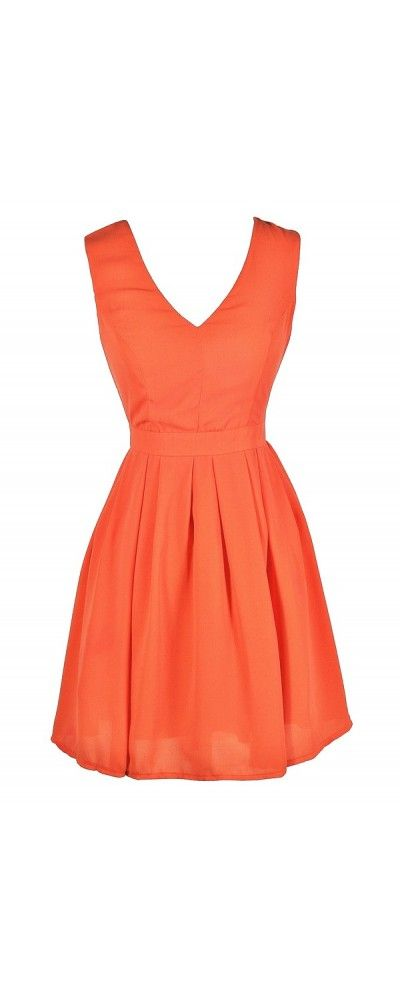 Ready To Party A-Line Dress in Orange  www.lilyboutique.com