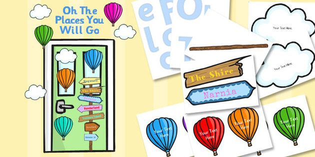 Classroom Ideas To Go ~ Oh the places you will go classroom door display pack
