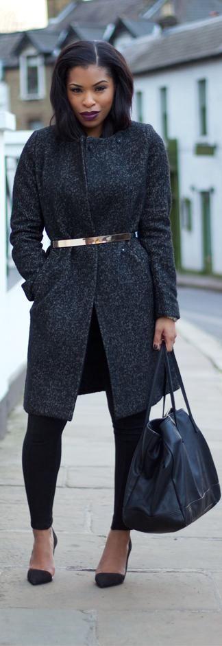 "Skinny belt over a jacket look - More ""Doing""   http://www.meek-n-mild.com/2013/11/more-doing.html"