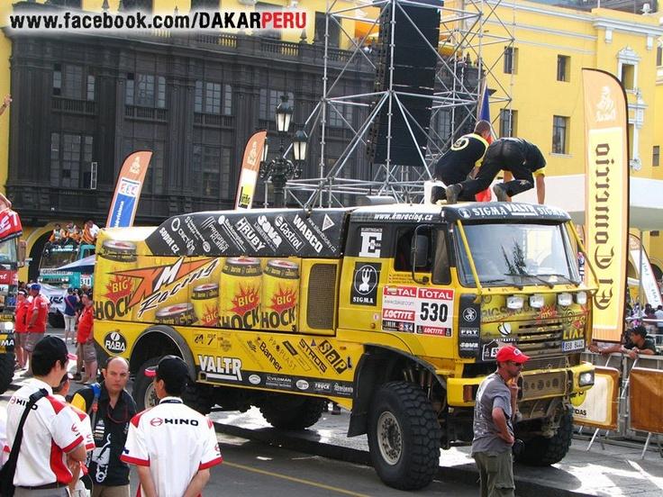 """Camion Checo de marca LIAZ del equipo """"KM Racing""""  2012"""