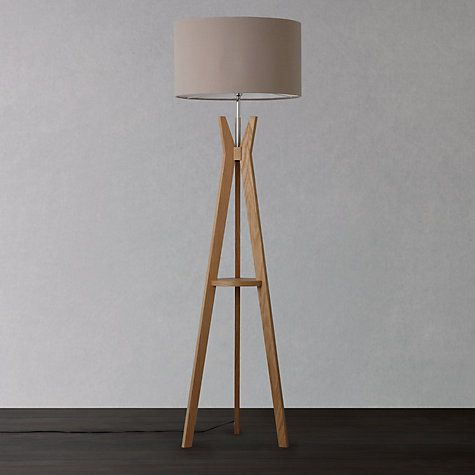 Buy i4DZINE Trafalgar Oak Tripod Floor Lamp, Oak Online at johnlewis.com