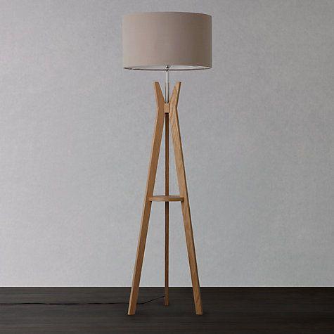 Buy i4DZINE Trafalgar Oak Tripod Floor Lamp, Oak Online at johnlewis.com
