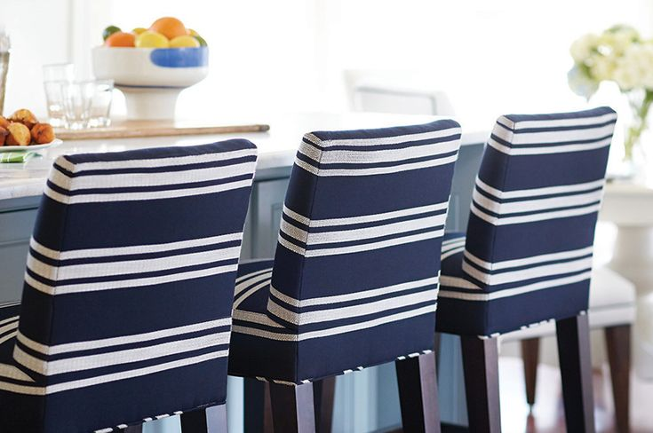 Lee Industries Counter Stools Upholstered In Sunbrella