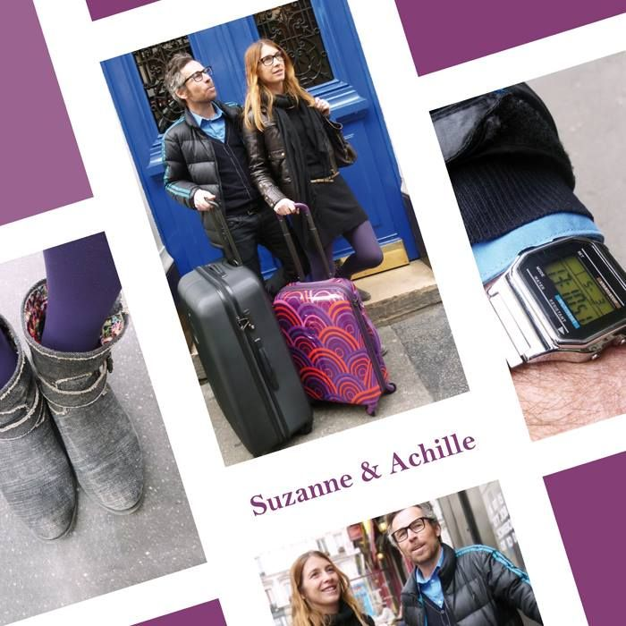 Street Style DELSEY - Suzanne & Achille with their FLANEUR luggage #Streetstyle #suitcase #fashion #Paris