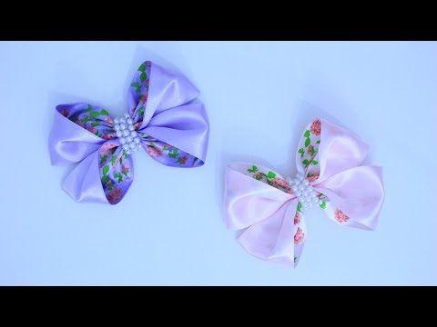 Passo a passo: Laço feito com fita cetim simples e pratico / DIY - YouTube