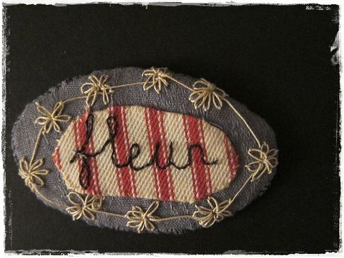 another fabric pin brooch...by peregrine blue .
