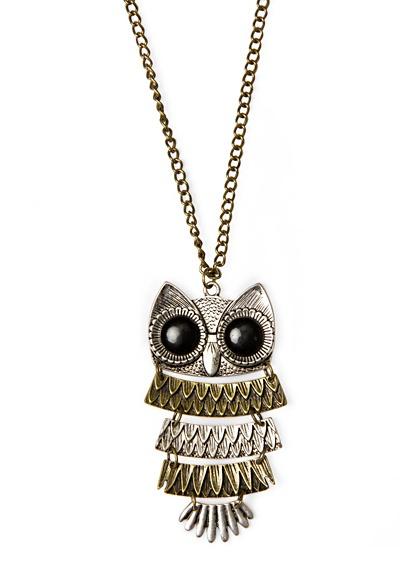 MANGO - Vintage style owl necklace  So cute!!