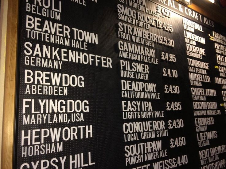 29 Best Beer Chalkboards Wall Mounted Images On