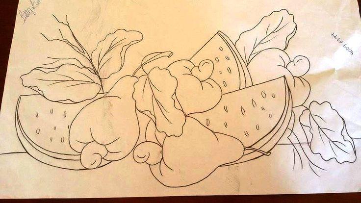 Risco pintura barradinho passarinhos - Pesquisa Google