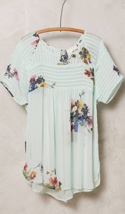 Stitch fix spring 2016 White floral flounce top. I REALLY want this!!!!
