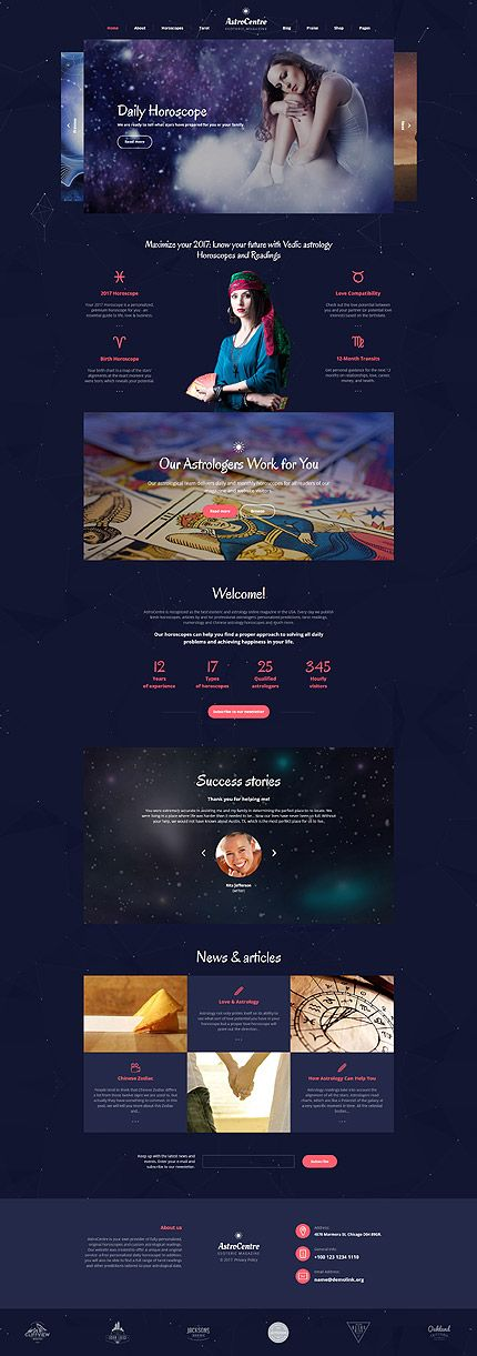 Astrology Multipage Website Template with social options, newsletter subscription ✡️ blog functionality and a load of additional pages 🚀 Astro Centre  🚿 is a responsive and well documented Bootstrap Astrology #WebsiteTemplate 🦑 crafted with care by top industry leaders 🛰️ Integrated online shop option will give you an opportunity to start selling online without any additional investments 🌡️ #HoroscopeDaily #ZodiacPlanets  #birthHoroscope  #dailyHoroscope  #horoscopesTheme…
