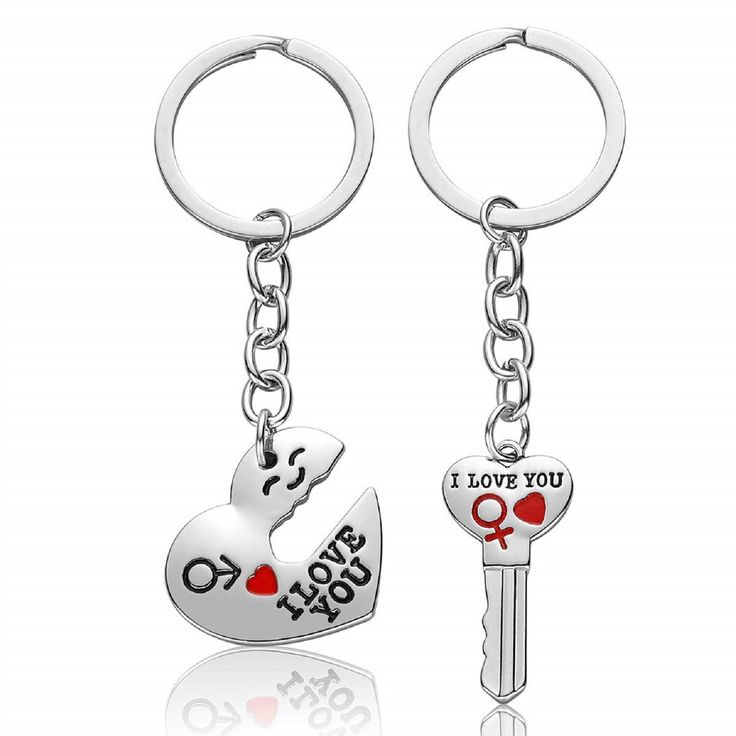 I Love You Matching Couple Keychain Gifts for Boyfriend Girlfriend His and Her Jewelry Gifts for Husband (1#)