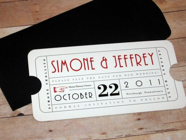 The 25 best ideas about Ticket Invitation – Theatre Ticket Wedding Invitations