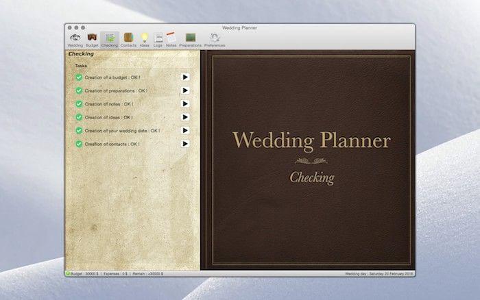 Wedding Planner 1.0.7 Checking
