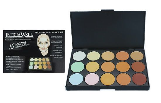 Palette+Correctrice+teint+&+Contouring+(camoufler,+illuminer,+structurer)+-+Leticia+Well
