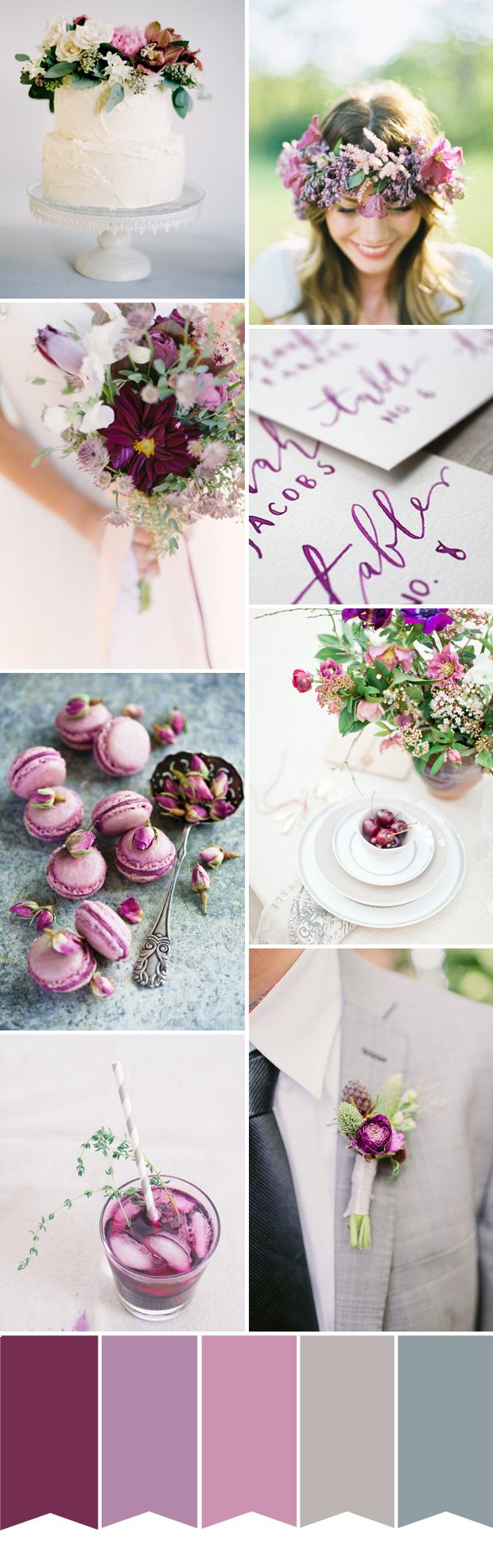 Pantone Colour of the Year - Radiant Orchid Wedding Inspiration | onefabday.com Wedding Inspiration - View our galleries www.oneevent.com.au/galleries. #wedding #engaged #invitations
