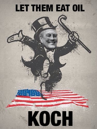 The founder of the teaparty, billionaire Koch, wants to end minimum wage, social security and Medicare all the while taking millions in subsidies and cheap lease rights to oil and lumber on government land.