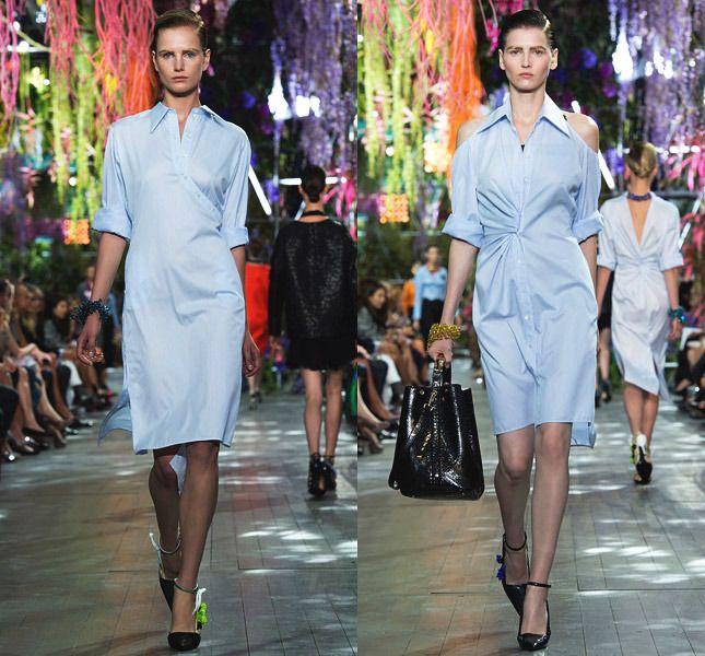 Платье-рубашка отChristian Dior
