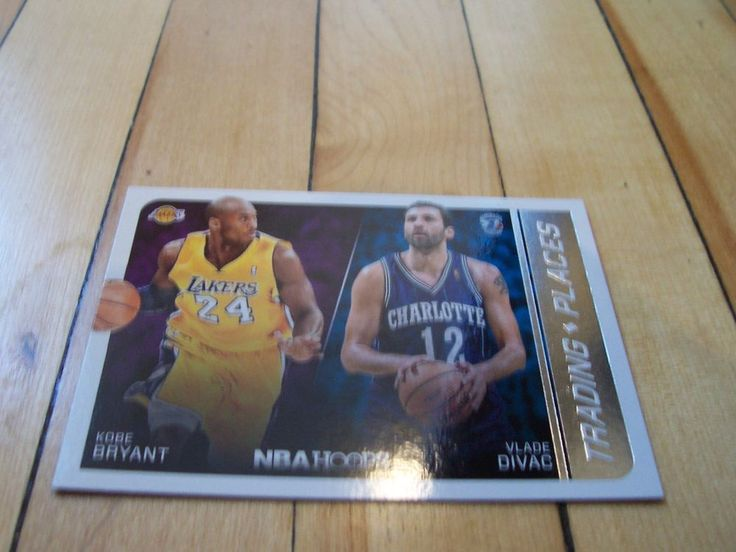 KOBE BRYANT VLADE DIVAC 2014-15 Hoops Trading Places Insert Card #8 L.A. Lakers