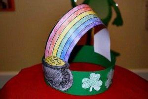 St. Patrick's Day Crafts  Rainbow Hat