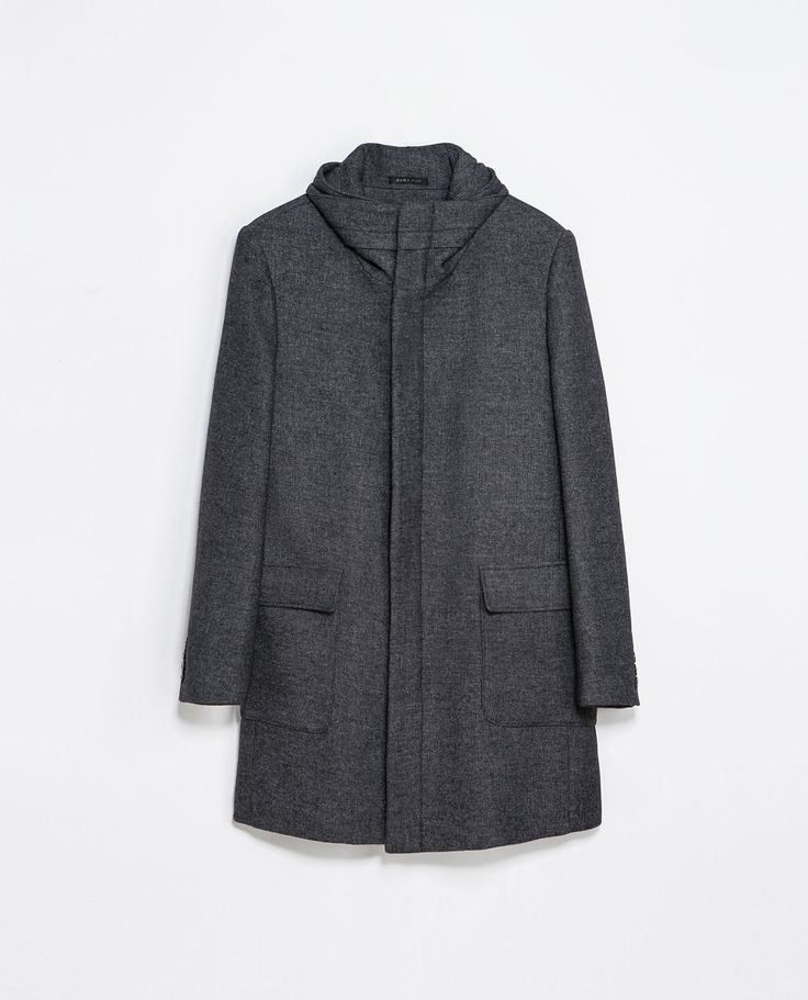 Zara COAT WITH WRAPAROUND COLLAR  Ref. 1564/347  269.00 CAD               OUTER SHELL  60% WOOL, 24% POLYESTER, 16% POLYAMIDE  LINING  55% POLYESTER, 45% VISCOSE