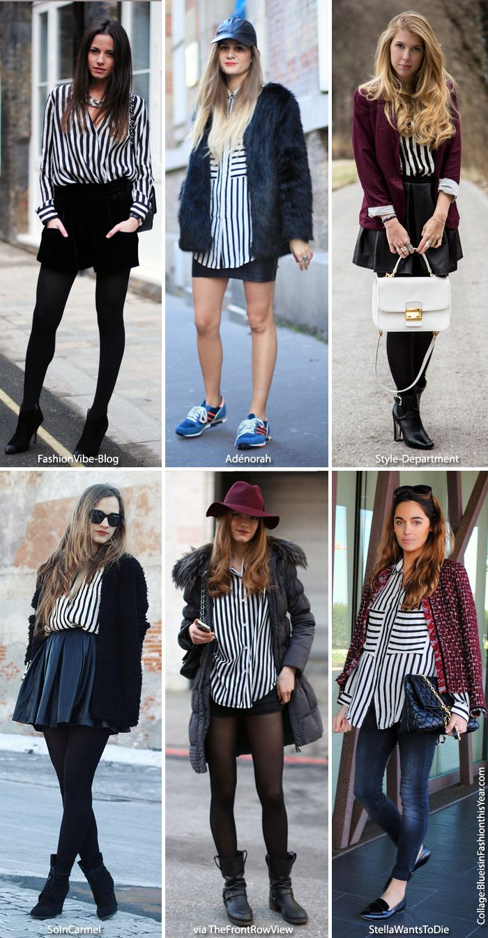 How To Wear a Black & White Striped Shirt