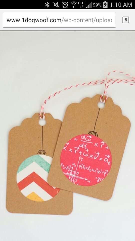Cute Christmas tag idea...good way to use up some scraps