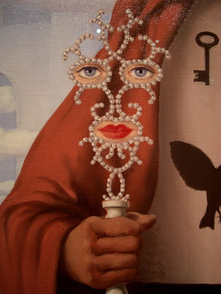 Rene Magritte: The Liberator (detail), 1947. Los Angeles Country Museum of Art.