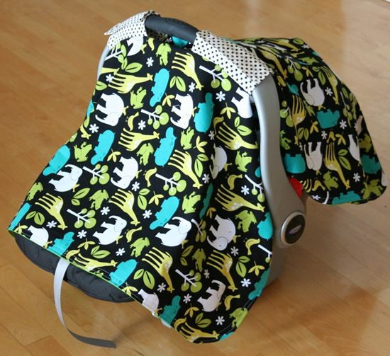 tutorial on how to make a car seat cover for baby.