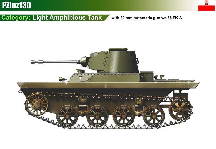 PZInz130 light amphibious tank