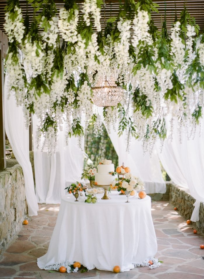 25 best hanging flowers wedding ideas on pinterest for Floral table decorations for weddings