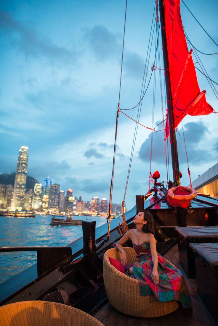 Nicole Warne of Gary Pepper aboard the Aqua Luna in Hong Kong