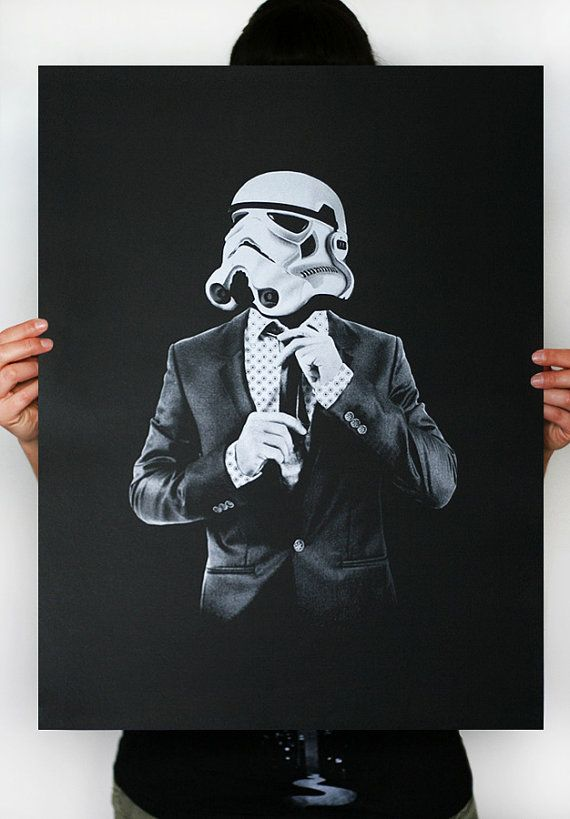 Storm Trooper inteligente soldado - Star Wars arte Screen impreso carteles (Storm trooper impresión, impresión de Star Wars)