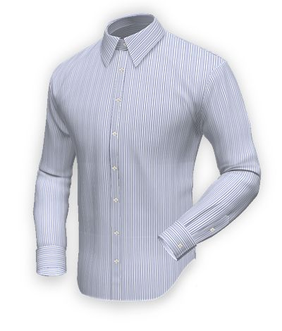 Blue easy care shirt in 100% cotton: http://www.tailor4less.com/en-us/collections/custom-dress-shirts/blue-shirt-collection/southport-blue-easy-care-shirt-in-100-cotton