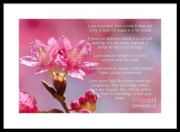 1 Corinthians 13 Love Is Framed Print By Andrea Anderegg Wall Art For Sale 1 Corinthians 13 Love Framed Prints