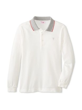 30% OFF Il Gufo Kid's Polo with Contrast Collar (White/Red)