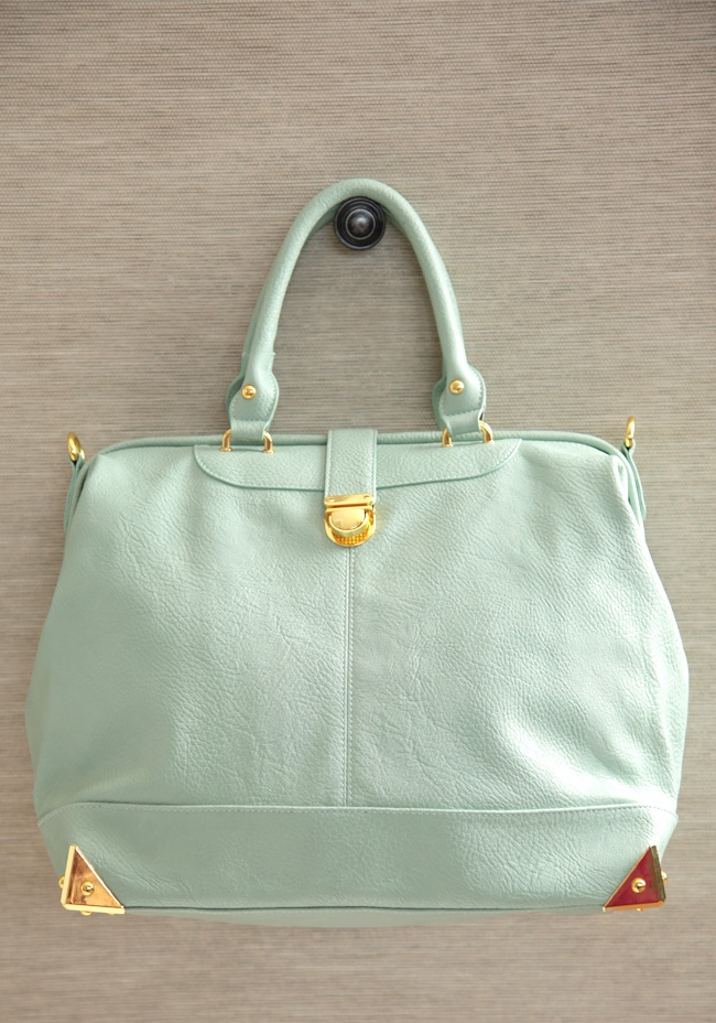 I really like this mint green purse for spring/summer.